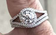 Essovius's A.JAFFE Engagement Ring (Top View) - image from Essovius