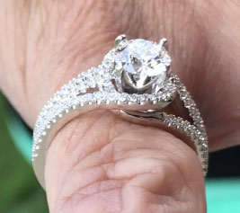 Essovius's A.JAFFE Engagement Ring (Side Angle View) - image from Essovius