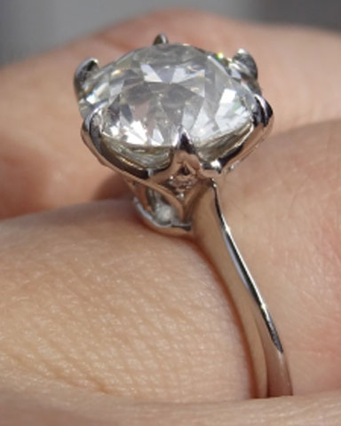 KristyDarling's Old European Cut (OEC) Solitaire (Angle View) - image by KristyDarling