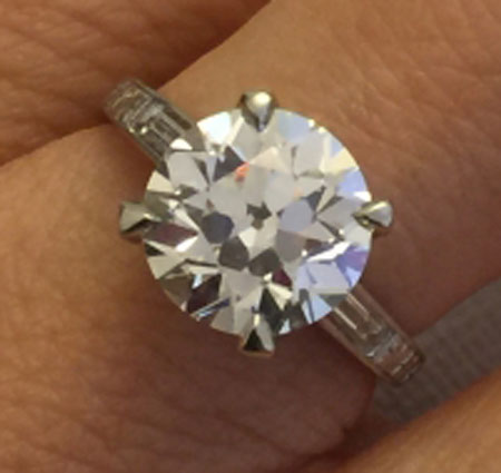 LLJsmom's 20th Anniversary:  3.04 Ct Old European Cut Diamond Upgrade (Top View) - image by LLJsmom