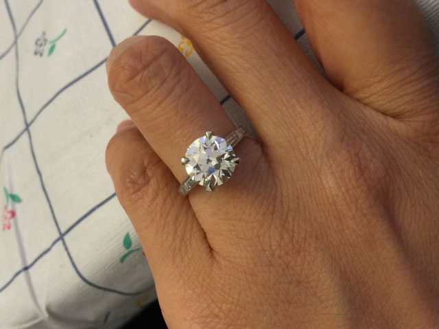 LLJsmom's 20th Anniversary:  3.04 Ct Old European Cut Diamond Upgrade (Hand View) - image by LLJsmom