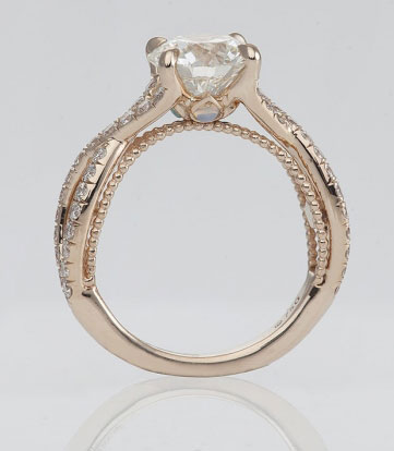 Medphysdave's Unique Twisted Shank Engagement Ring (Side View) - image by Steven Kirsch