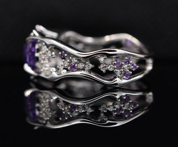 OTL's 1.55 Carat Unheated Purple Sapphire Ring (Side View) - image from OTL