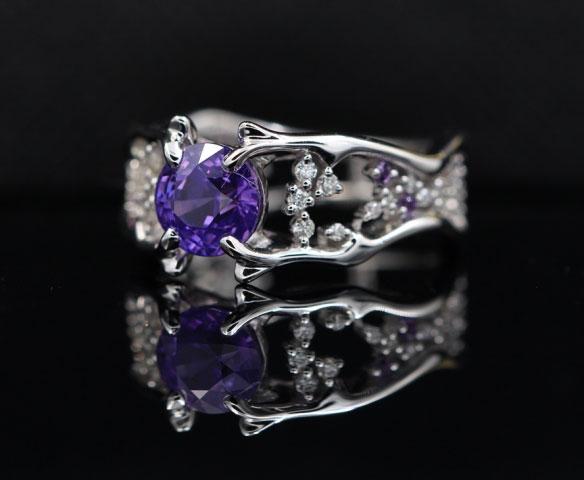 1 55 Carat Unheated Purple Sapphire Ring Pricescope
