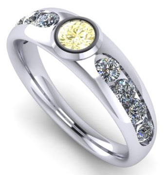 Rod's Men's Bling:  Wedding Rings (Rod's Husband's Rendered Ring View) - image by Rod