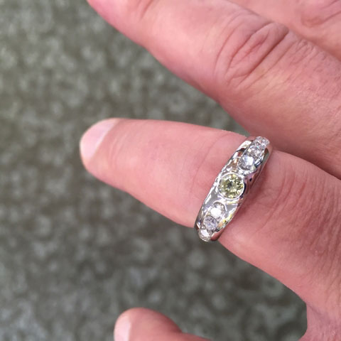 Rod's Men's Bling:  Wedding Rings (Rod's Husband's Top Hand View) - image by Rod