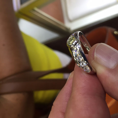Rod's Men's Bling:  Wedding Rings (Rod's Husband's Angled Side View) - image by Rod