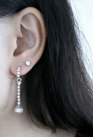 Sparkle_ruckle's Heirloom Detachable Hoop Diamond Earrings Worn as Original Design - image by Sparkle_ruckle