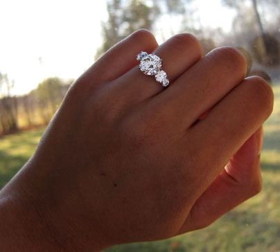 Yssie's Stunning 5-Stone 8-Prong Trellis Reset Ring (Hand View) - image by Yssie