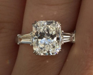 cdotc's 3 Carat Radiant Engagement Ring (Top View) - image by cdotc