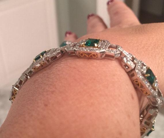 grateful4life's Emerald Bracelet (Side View) - image by grateful4life