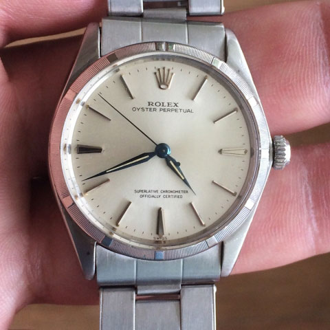 gregchang35's Vintage Rolex Oyster Perpetual Timepiece (Top View) - image by gregchang35