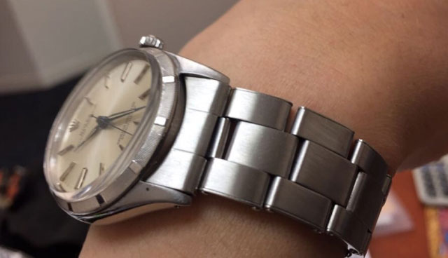 gregchang35's Vintage Rolex Oyster Perpetual Timepiece (High Crown View) - image by gregchang35