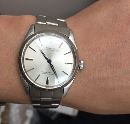 gregchang35's Vintage Rolex Oyster Perpetual Timepiece (Wrist View) - image by gregchang35