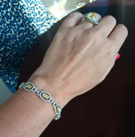 lhagedorn's Yellow Diamond Bracelet and Ering - image by lhagedorn