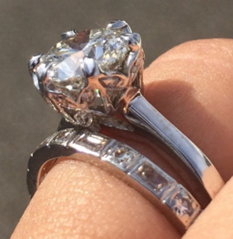 Nala's Versatility of a Solitaire Engagement Ring (Angle View) - image by nala