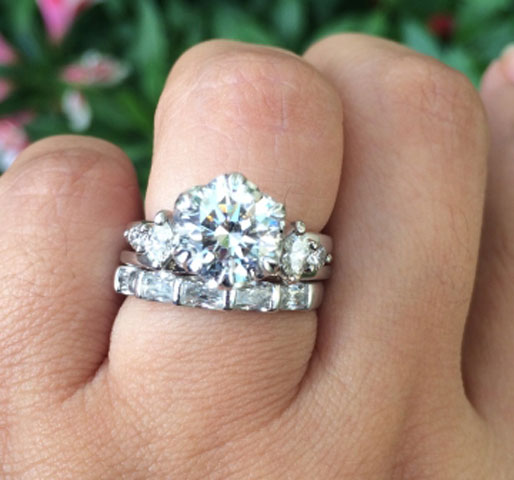Nala's Versatility of a Solitaire Engagement Ring With a Wrap (Top View) - image by nala