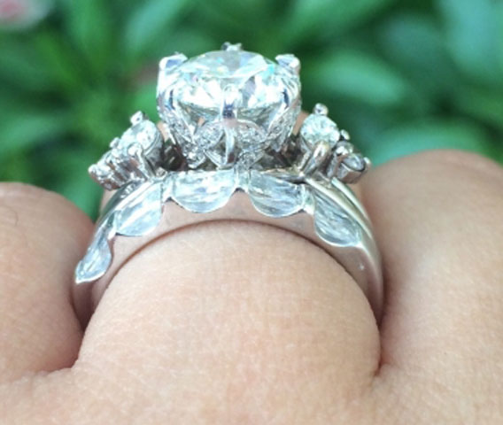 Nala's Versatility of a Solitaire Engagement Ring With a Wrap (Side View) - image by nala