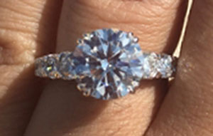 po720's 2.62 Carats Upgrade Reset into Existing Engagement Ring Setting (Top View) - image by po720