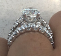 po720's 2.62 Carats Upgrade Reset into Existing Engagement Ring Setting (Side View) - image by po720