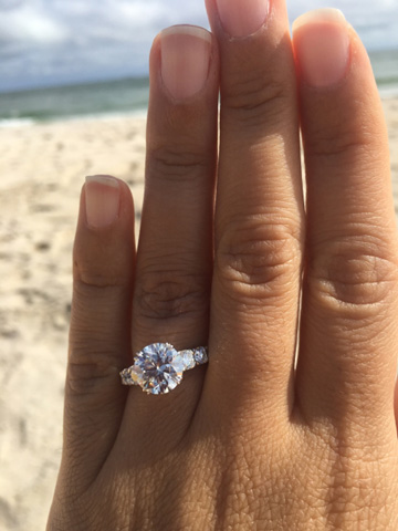 2.62 Carats Upgrade Reset into Existing Engagement Ring Setting (Hand View) - image by po720