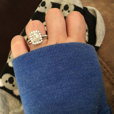 thorstedswife's Live A. Jaffe Setting:  Rated Top 10 Jewelry Brands in Bridal Design! (Hand View) - image by thorstedswife