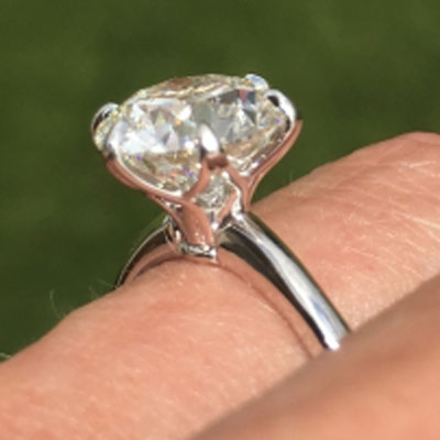 Tweeter8177's 3.25 Ct Solitaire Engagement Ring, 3 Stone RHR and Studs Reset  (Solitaire Ring) - image by Tweeter8177