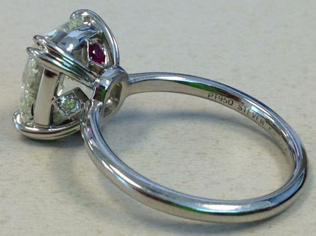 wintotty's 4.27 Carat August Vintage Cushion (AVC) Diamond Ring (Side Angle View) - image by wintotty