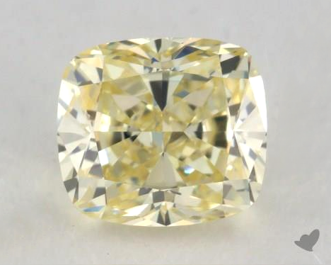 0.50-carat yellow cushion-cut yellow diamond from James Allen