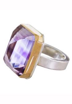 Jamie Joseph inverted amethyst ring