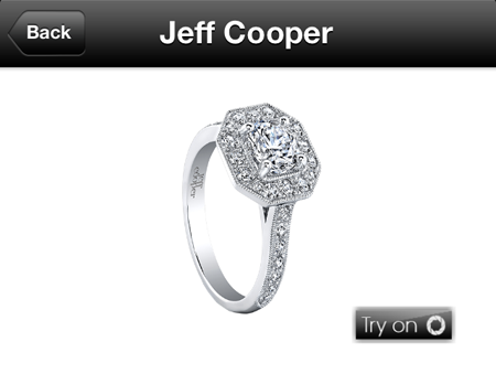 Jeff Cooper Virtual Try-On Bridal Jewelry App