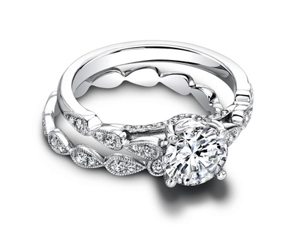 The Lily Eternity Engagement Ring Set from Jeff Cooper Designs