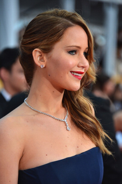 Jennifer Lawrence in Chopard at the 2013 SAG Awards