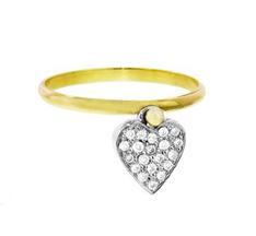 Diamond heart swivel ring by Jennifer Meyer