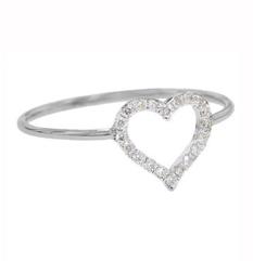 Open heart ring by Jennifer Meyer