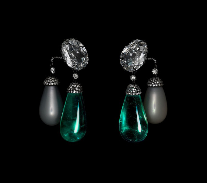 Jewels by JAR at the Metropolitan Museum of Art, Emerald and Diamond Earrings