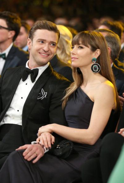 Justin Timberlake and Jessica Biel in Lorraine Schwartz earrings