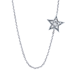 KC Designs sideways diamond star necklace