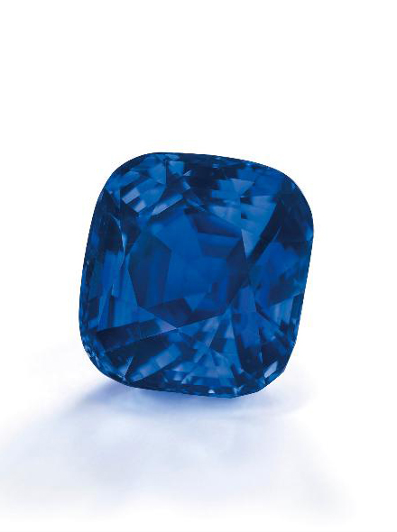 35.09-carat Kashmir sapphire • Image: Christie's