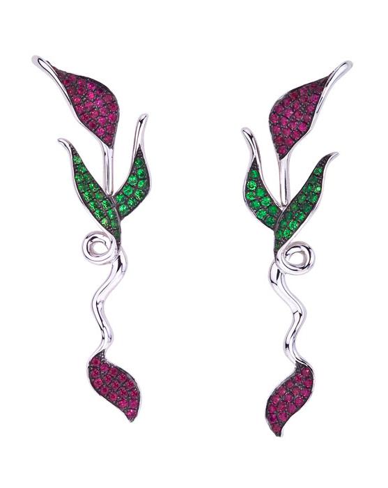 Femme Fatale earrings by Katherine Jetter