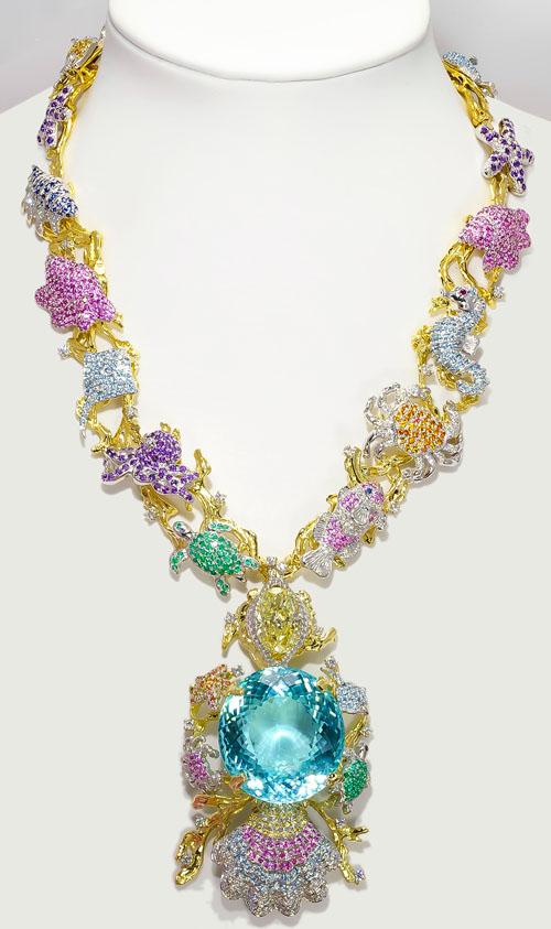 'Paraiba Star of the Ocean Jewels' necklace by Kaufmann de Suisse
