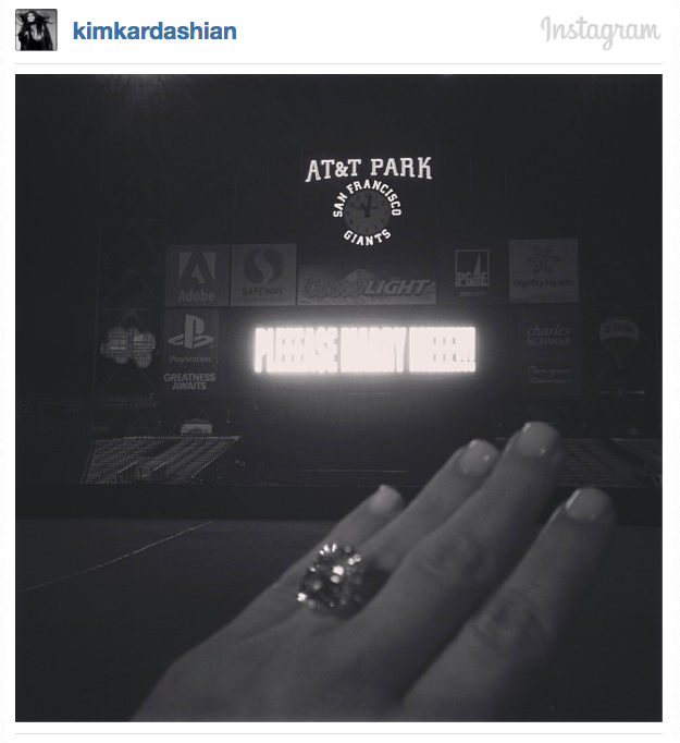 Kim Kardashian's engagement ring from Kanye West