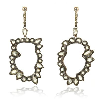 Kimberly McDonald diamond earrings worn by Michelle Obama, 2013 Inaugural Ball