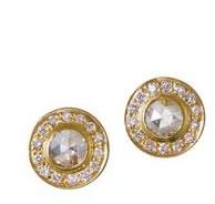 Kothari rose-cut diamond halo studs
