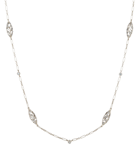 Kwiat Vintage Collection 27-inch diamond filigree chain