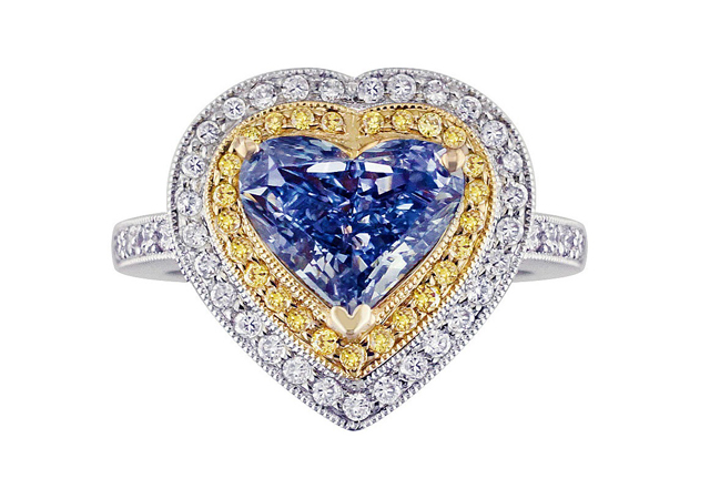 The Lady Dianthai • 2.28-carat fancy-vivid blue, internally-flawless diamond ring