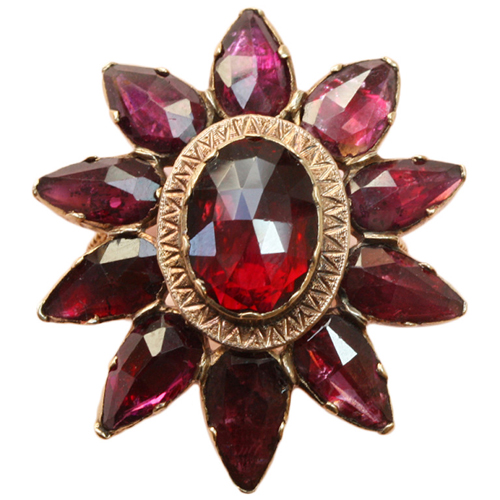 19th-century garnet star ring from Kunsthandel Inez Stodel at 1stdibs