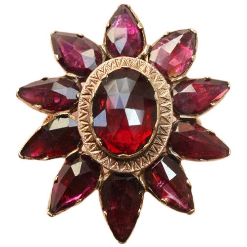 19th-century garnet star ring from Kunsthandel Inez Stodel at 1stdibs