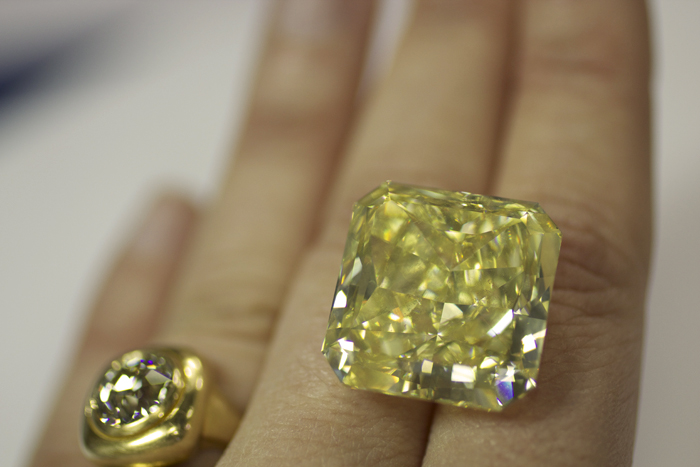 50-carat fancy-intense yellow diamond from Leibish & Co.