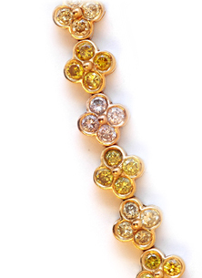 Fancy-color diamond bracelet • Leibish & Co.